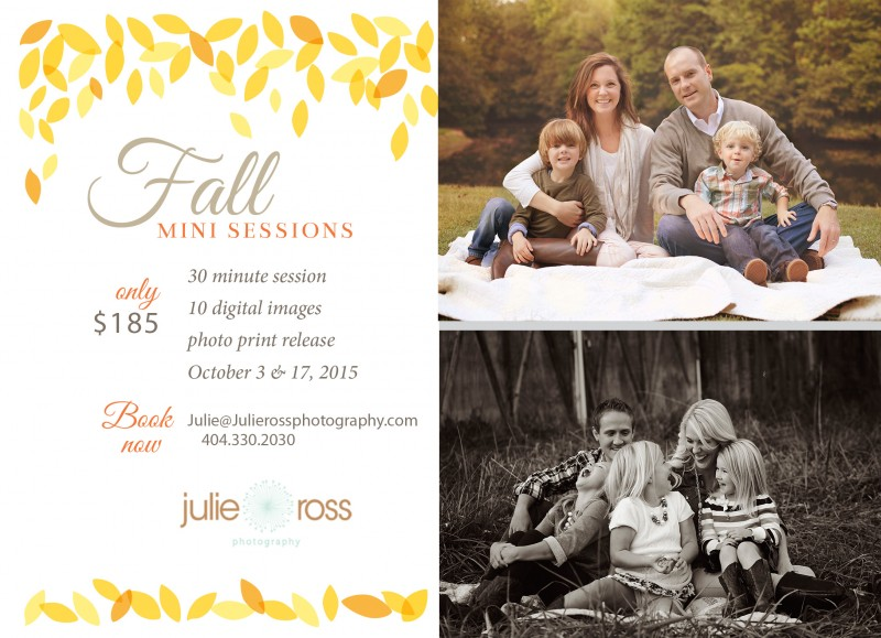 fall mini session flyer 2015