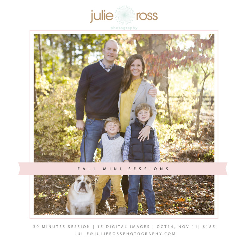 Fall Mini Sessions Roswell GA